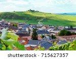 champagne vineyard  france. | Shutterstock . vector #715627357