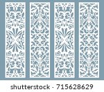 die and laser cut decorative... | Shutterstock .eps vector #715628629