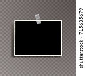 vector template photo frame... | Shutterstock .eps vector #715635679