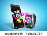 creative mobile connectivity... | Shutterstock . vector #715636717