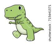 cute baby tyrannosaurs rex... | Shutterstock .eps vector #715641571