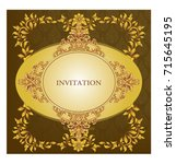 elegant save the date card... | Shutterstock .eps vector #715645195
