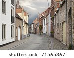 Cityscape Of Bruges Streets ...