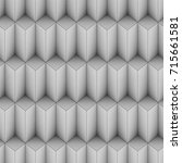 grey shaded abstract geometric... | Shutterstock . vector #715661581