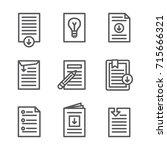 whitepaper   download icon... | Shutterstock .eps vector #715666321