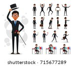 male black african businessman... | Shutterstock .eps vector #715677289