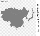 high quality map of the east... | Shutterstock .eps vector #715678129