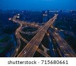 aerial photography bird eye... | Shutterstock . vector #715680661