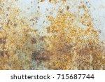rust. texture of rust. texture... | Shutterstock . vector #715687744