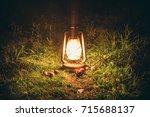 kerosene lamp. kerosene lamp...   Shutterstock . vector #715688137