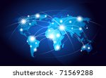 world map | Shutterstock .eps vector #71569288