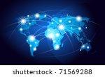 world map | Shutterstock .eps vector #71569288