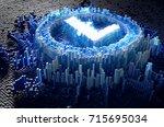 a microscopic closeup concept...   Shutterstock . vector #715695034