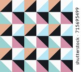 seamless vector geometric color ... | Shutterstock .eps vector #715695499