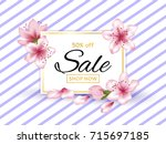50 off sale shop now poster... | Shutterstock .eps vector #715697185