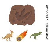 a falling meteorite... | Shutterstock .eps vector #715700605