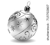 Realistic Silver Christmas Ball ...