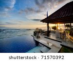 sunset over balinese coastline | Shutterstock . vector #71570392