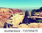colorado national monument... | Shutterstock . vector #715705675