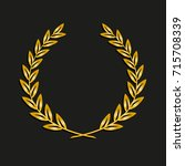 gold award laurel wreath.... | Shutterstock .eps vector #715708339