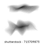 dot halftone. dotted design... | Shutterstock . vector #715709875