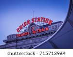 denver union station at dusk | Shutterstock . vector #715713964