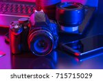 studio photography with... | Shutterstock . vector #715715029