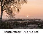 Winter Morning At Sunrise Abov...