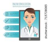vector infographic. online... | Shutterstock .eps vector #715728085