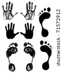 vector human tracks | Shutterstock .eps vector #71572912