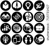 set of simple icons on a theme... | Shutterstock .eps vector #715731427