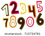 set of colorful hand drawn... | Shutterstock .eps vector #715734781