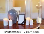 funeral and mourning concept  ... | Shutterstock . vector #715744201