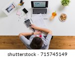 business  accounting and... | Shutterstock . vector #715745149