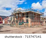 newly built homes in a... | Shutterstock . vector #715747141