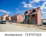 newly built homes in a... | Shutterstock . vector #715747324