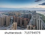 panoramic picture of china... | Shutterstock . vector #715754575