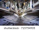 subway tunnel under... | Shutterstock . vector #715754935