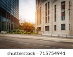 modern cityscape and road of... | Shutterstock . vector #715754941