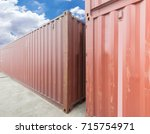 stack of cargo containers at... | Shutterstock . vector #715754971