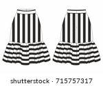 women skirt with stripes.... | Shutterstock .eps vector #715757317