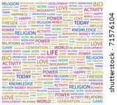 life. word collage on white... | Shutterstock .eps vector #71576104