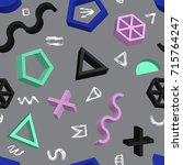vector abstract seamless... | Shutterstock .eps vector #715764247