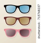 color sun glasses | Shutterstock .eps vector #715768237