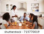 family with teenage children... | Shutterstock . vector #715770019