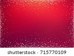 red glitter defocused...   Shutterstock . vector #715770109