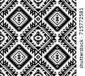 black and white tribal vector... | Shutterstock .eps vector #715772581
