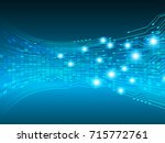 binary circuit future... | Shutterstock .eps vector #715772761