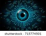 binary circuit future... | Shutterstock .eps vector #715774501
