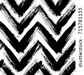 chevron pattern. seamless brush ... | Shutterstock .eps vector #715781155